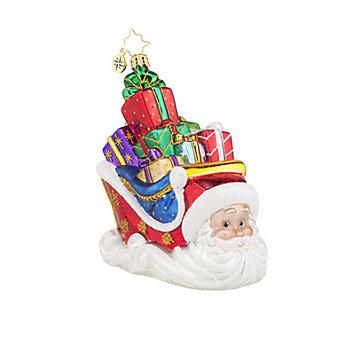 Christopher Radko Sleighing Santa Ornament