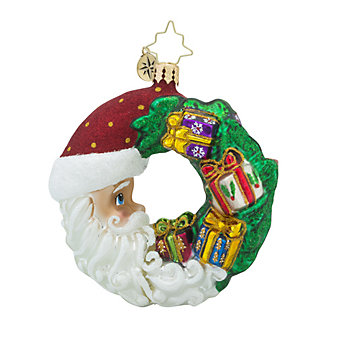 Christopher Radko Crescent Christmas Presents Little Gem Ornament
