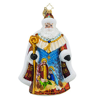 Christopher Radko Oh Holy Night Nick Ornament