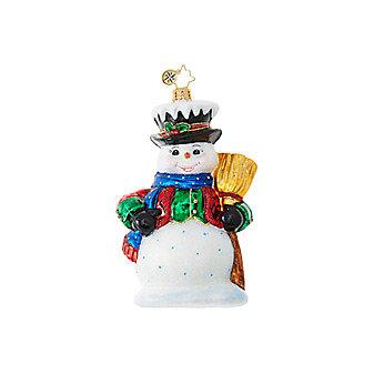 Christopher Radko Dickensian Snowman Ornament