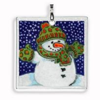 "Peggy_Karr_3""_Happy_Snowman_Ornament"