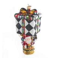 MacKenzie-Childs_Up,_Up,_&_Away_Santa_Ornament