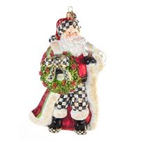 MacKenzie-Childs_Deck_The_Halls_Santa_Ornament
