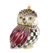 Mackenzie-Childs_Courtly_Check_Regal_Owl_Ornament_