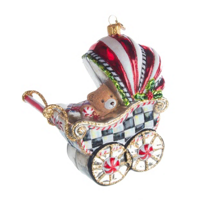 Mackenzie-Childs_Courtly_Check_Baby's_First_Pram_Ornament_