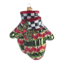 Mackenzie-Childs_Courtly_Check_Holiday_Mittens_Ornament