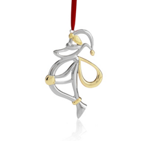 Nambe_Santa_Ornament