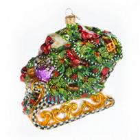 MacKenzie-Childs_Holly_Sleigh_Glass_Ornament
