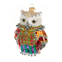MacKenzie-Childs_Wise_Owl_Glass_Ornament