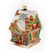 MacKenzie-Childs_Gingerbread_House_Glass_Ornament