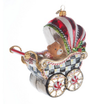 MacKenzie-Childs_2016_Baby's_First_Pram_Glass_Ornament