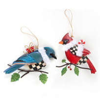 MacKenzie-Childs_Winter_Birds_Ornament_-_Set_of_2