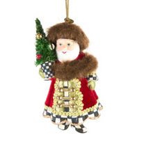 MacKenzie-Childs_Yuletide_Manor_Santa_Ornament