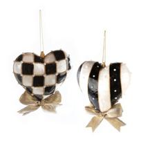 mackenzie-childs_black_&_white_heart_ornament_-_medium-_set_of_2