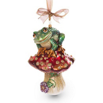 jay_strongwater_frog_on_mushroom_ornament