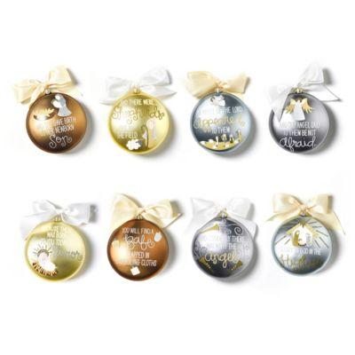 coton colors birth of christ luke 2:7-14 set of 8 glass ornaments