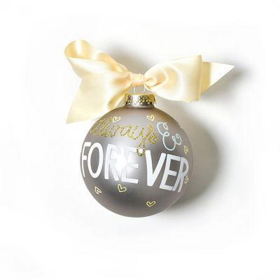 coton colors always & forever glass ornament