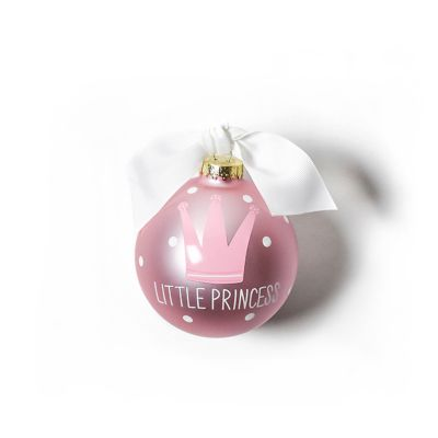 coton colors little princess glass ornament