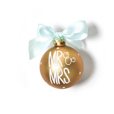 coton colors mr. & mrs. glass ornament