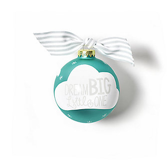 coton colors dream big little one glass ornament