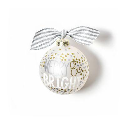 coton colors merry & bright metallic confetti glass ornament