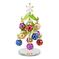 """Glass_Tree_With_Star_Ornaments,_6"""""""