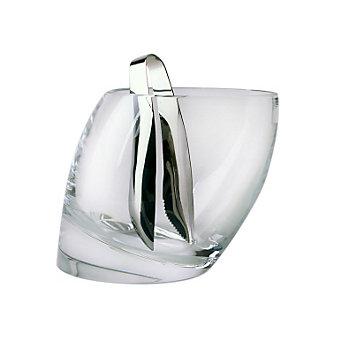 Nambe Tilt Crystal Ice Bucket with Tongs