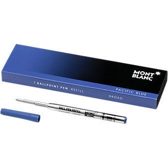 Montblanc Ballpoint Refill-Broad, Pacific Blue