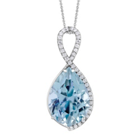14K_White_Gold_Aquamarine_&_Round_Diamond_Halo_Pendant