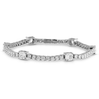 18K_White_Gold_Cushion_and_Round_Diamond_Bracelet