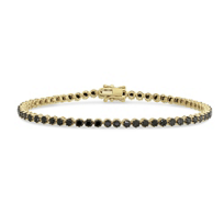 14K_Yellow_Gold_&_Black_Rhodium_Black_Diamond_Tennis_Bracelet,_7.25""
