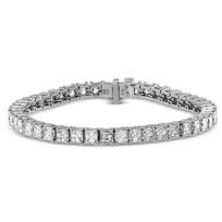 Rahaminov_Platinum_Asscher_Diamond_Tennis_Bracelet