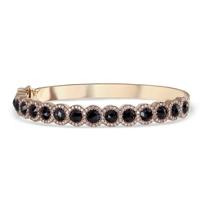 18K_Rose_Gold_Black_Rosecut_Diamond_and_Round_Diamond_Halo_Bangle_Bracelet