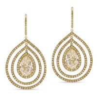 18K_Yellow_Gold_Fancy_Yellow_Pear_Shape_and_Round_Diamond_Dangle_Earrings