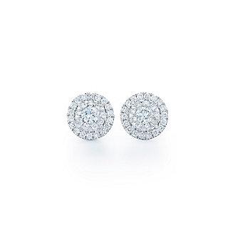 Kwiat 18K White Gold Diamond Cluster Sunburst Earrings