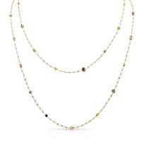 18K_Yellow_Gold_Mixed_Cut_Diamond_Necklace