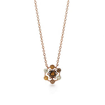 Kwiat 18K Rose Gold Starry Night Diamond Pendant
