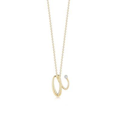 "Kwiat 18K Yellow Gold Diamond Initial ""A"" Pendant"