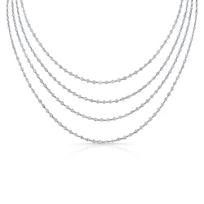 "18K_White_Gold_Round_Diamond_Station_Necklace,_90"""