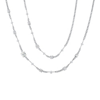 18K_White_Gold_Oval_&_Round_Diamond_Station_Necklace,_37""