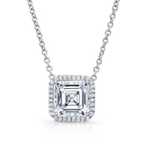 18K_White_Gold_Asscher_Cut_Diamond_and_Round_Diamond_Halo_Necklace