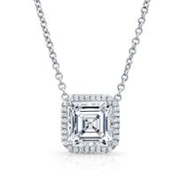 18K_White_Gold_Asscher_Cut_Diamond_and_Round_Diamond_Halo_Necklace
