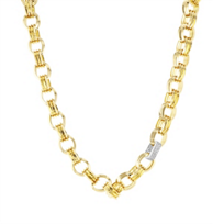 roberto_coin_18k_yellow_gold_fluted_oval_link_chain_with_18k_white_gold_diamond_link,_18.5""
