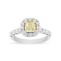 18K_Two_Tone_Fancy_Yellow_Radiant_Diamond_with_Diamond_Halo_&_Shank,_1.80cttw