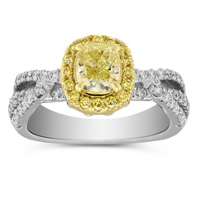 18K_Yellow_&_White_Gold_Fancy_Yellow_Cushion_Diamond_Halo_Ring