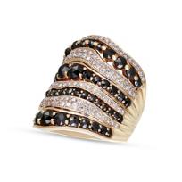 18K_Rose_Gold_Ros_Cut_Black_Diamond_and_Round_White_Diamond_Multirow_Ring
