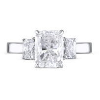 18K_White_Gold_Radiant_Diamond_Ring