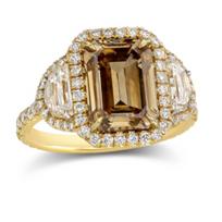 Rahaminov_18K_Yellow_Gold_Fancy_Yellow-Brown_Diamond_Ring