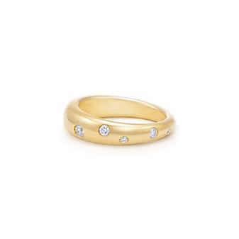 Kwiat 18K Yellow Gold Cobblestone Diamond Ring