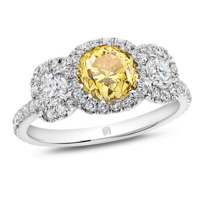 18K_Yellow_&_White_Gold_Fancy_Vivid_Yellow_Diamond_Ring